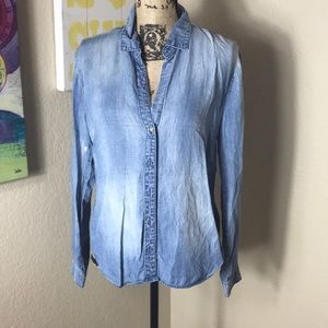 Anthropologie Cloth & Stone Denim Button Up